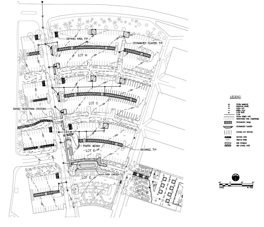 Mt Hood Community College Parking lot design