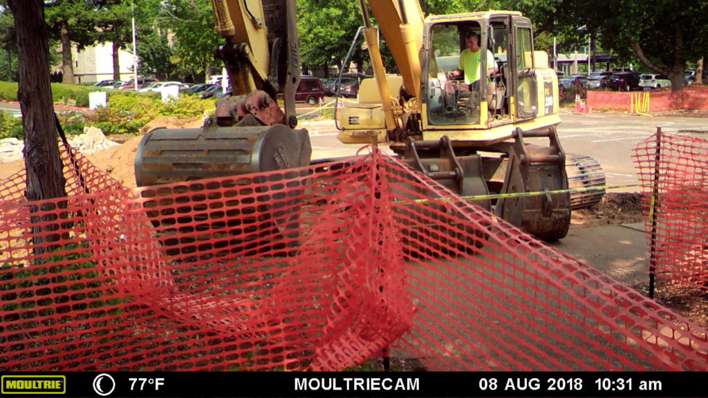 Construction in Parking lot