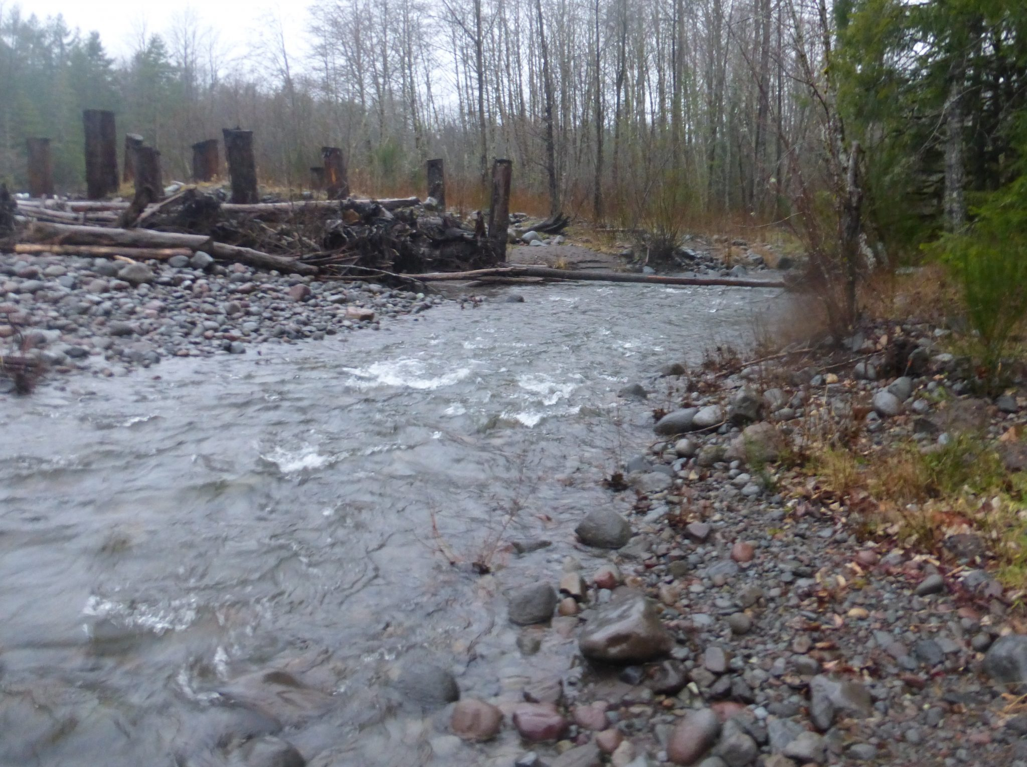 sandy river side channel