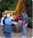 Watershed Council Members reviewing excavation plans.