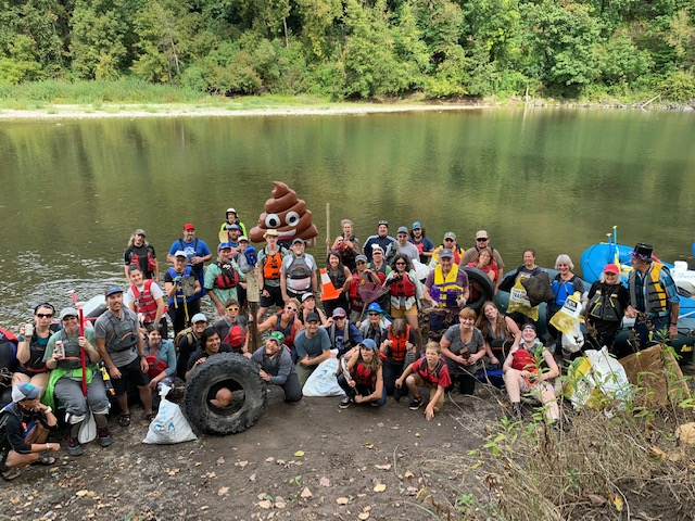 Sandy River Floating Cleanup