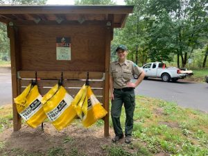 stash the trash bags with park ranger