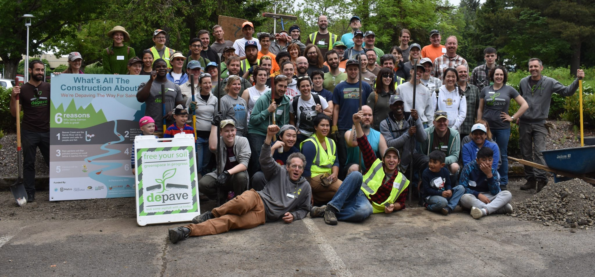 depave volunteers