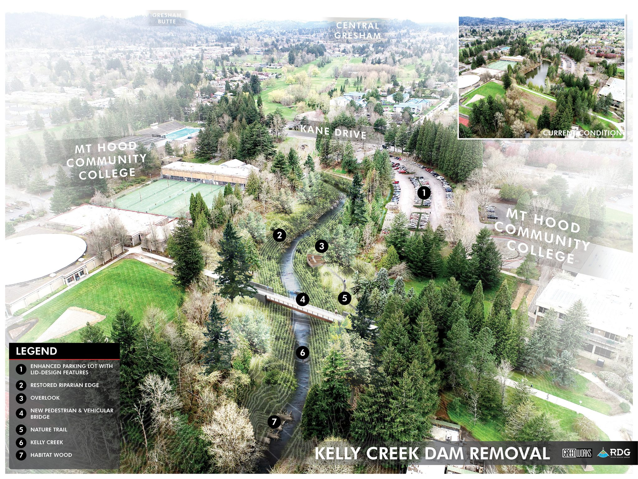 Kelly Creek Dam Removed Illustration MHCC